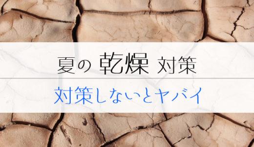 夏の乾燥対策【対策しないとヤバイ】